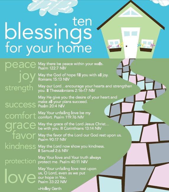 Our Home From Scratch: Ten Blessings For Your Home